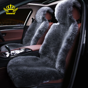 Wholesale sheepskin car covers resale online - Natural sheepskin car seat cover Fit for most cars feel comfortable warm and luxurious breathable refreshing car seat cushion
