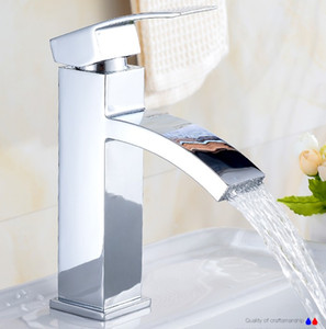 Wholesale taps for sale - Group buy Basin Faucet basin mixer tap waterfall bathroom mixers shower faucets water mixer Deck Mounted Faucets