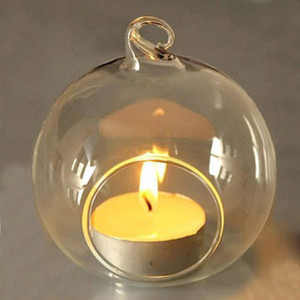 60MM Hanging Tealight Holder Glass Globes Terrarium Wedding Candle Holder Candlestick Vase Home Hotel Bar Decoration AHC3527
