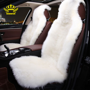 Wholesale children car seat covers resale online - Luxury sheepskin car seat cover universal car interior autumn winter plush seat covers children send gifts soft cushion