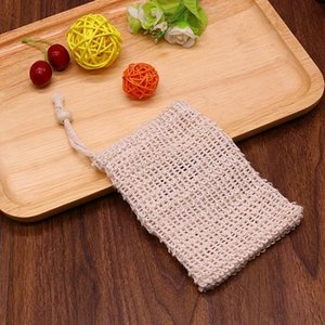 9*14cm Cotton linen soap bag beam mouth type environmental protection handmade soap foaming net storage bag soap storage bag