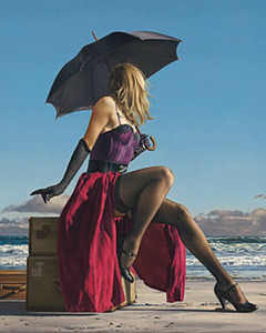 Wholesale beach decor picture frames resale online - SEXY BEACH ART On Crescent Beach by Paul Kelley Home Decor Oil Painting On Canvas Wall Art Canvas Pictures For Living Room