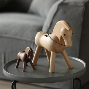 Wholesale wood vintage accessories for sale - Group buy home decoration accessories walnut wood horse decoracao para casa decor decoracion hogar moderno maison vintage decor figurine