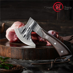 Wholesale butcher knives for sale - Group buy Handmade Forged Axe Kitchen Knife Chef Boning Knife Meat Cutter Butcher Tools Fire Hatchet Tactical Tomahawk Axe Outdoor Tools