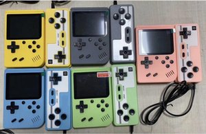 Mini Handheld Macaron Game Console 500 400 in 1 Retro Video Game Console 8 Bit 3.0 Inch Colorful LCD Support Two Players