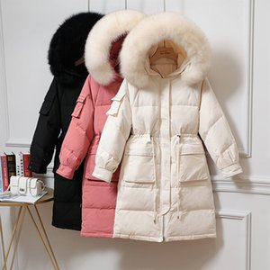 Women's Winter Down Jacket Long 2020 New Down Jackets For Women Coat Female Jacket Large Fur Collar