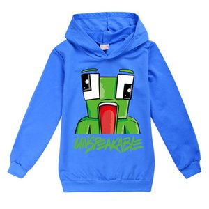 UNSPEAKABLE Print Hoody Kids Hooded Sweatshirt Casual Tops Boys Girls Hoodies Cotton T-shirt Children Clothes Moletom Infantil LJ200821