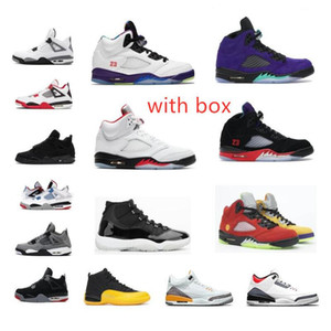 11S 11 25th Anniversary 5 Alternate Bel-Air Black Cat 4 4s basketball shoes 11s Concord Bred Space Jam Sneaker trainer with box