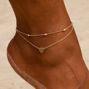 Wholesale oval bead chain resale online - Accessories fashion Oval bead chain big love women s beach holiday style anklet