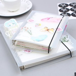 Wholesale a5 binders resale online - A5 A6 Spiral Notebook Cover Loose Diary Coil Ring Binder Filler Paper Seperate Planner Receive Bag Card Storage