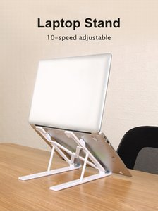 10-Speed Adjustment Laptop Stand Portable Notebook Support Holder For Macbook Pro Air Lapdesk Laptop Holder Computer Cooling Pad