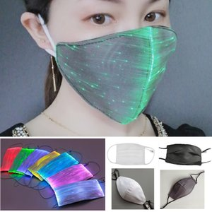 Wholesale light up face mask rave resale online - Led Flashing Mask Color Luminous Light Face Mask For Women Men Rave Music Party Christmas Halloween Light Up Cycling HH9 A