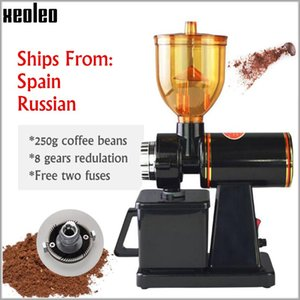 Wholesale jump beans for sale - Group buy Xeoleo Electric Coffee grinder g Coffee Bean grinder mill machine Black Red Anti jump Flat Wheel Grinding machine