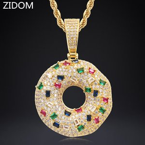 Wholesale biscuit man resale online - Men Women Hip hop iced out bling biscuit pendant necklaces micro pave Zircon male Hiphop necklace fashion jewelry gifts