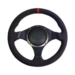 Wholesale mitsubishi lancer evolution resale online - LS AUTO Braiding on the steering wheel cover for Mitsubishi Lancer Evolution EVO auto Accessories hand sewing car styling