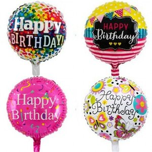 Wholesale happy birthday ballons for sale - Group buy 18 Inch Aluminum Foil Balloon Happy Birthday Round Ballons Inflatable Airballoon Kids Child Toys Party Decoraciones Supplies my c2