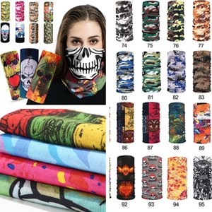 Wholesale pirate half mask for sale - Group buy Bike motorcycle helmet face mask half mask CS Ski Headwear Neck cycling pirate headband hat cap halloween mask Magic Scarve T1I2326