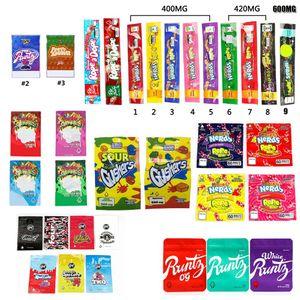 NeRds ROPE Bites Dank Gummies WONKA ERRLLI Runtz Gasco SOUR GUSHERS Cannaburst ROPE DOPE Infused Packaging Mylar Bag Pouch Package