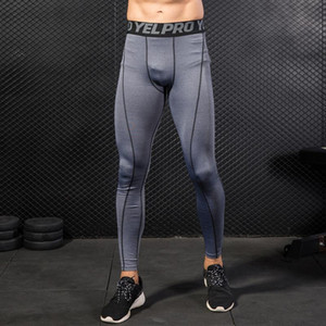 Wholesale compression leggings resale online - 2 Pack Men Quick Dry Running Leggings Compression Tights Gym Training Fitness Trousers Leggings Male Breathable Underwear