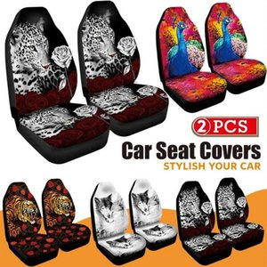Wholesale animal print seat covers for sale - Group buy 3D Animal Printing Peacock Print Front Car Seat Cover Universal Car Seat Protector Cushion Full Cover For Most for SUV