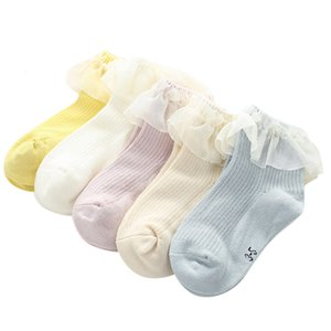 Wholesale kids toes socks resale online - 5 Pairs New Lace Girls Children Toe Cute Bow Sock for Kids Correction Gifts Ankle Socks T Cotton Blends D19