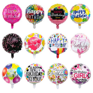 Wholesale happy birthday ballons for sale - Group buy 18 Inch Aluminum Foil Balloon Happy Birthday Round Ballons Inflatable Airballoon Kids Toys Party Decoraciones Supplies my B2