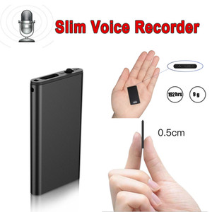 ingrosso audio rec-Slim Mini Hidden Audio Voice Recorder USB Flash Professional Digital HD Noise Reduction Long Distance Lettore MP3 Music For riunione di classe Rec