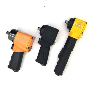 Wholesale air impact wrench resale online - Pneumatic Air tools Impact Wrench Inch Air Angle Single Hammer Rubber Handle Double Hammer Big Torque