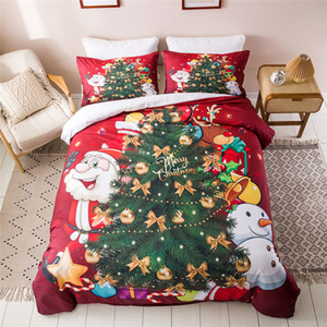 Wholesale christmas bedding for sale - Group buy 3D Christmas Bedding Sets Cartoon Duvet Cover Set With Pillowcase Children Bed Linen Comforter Set Children Gifts