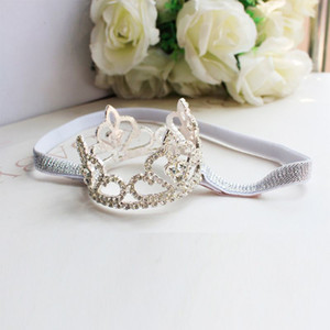 Wholesale baby girl princess crown headband for sale - Group buy Baby Kids Girls Princess Rhinestone Crown Headband Newborn Tiara Photography Props Accessories