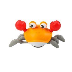 Wholesale crab toys resale online - kid toy simulation Leash crabs amphibious Crawling paddle crabs Baby shower toys both boy and girl
