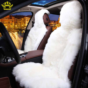 Wholesale sheepskin car covers for sale - Group buy ROWNFUR Natural Australian sheepskin car seat covers universal size for seat cover accessories automobiles D025 B