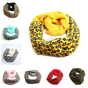 Wholesale leopard print cotton scarves for sale - Group buy 2020 Winter Warm Knitted Scarf Men Women Fashion Crochet Neck Gaiter Leopard Print Scarves Wool Warm Knitted Scarf Neckerchief D92404