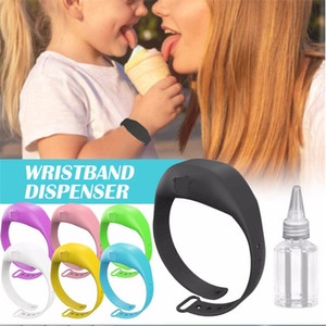 Wristband Hand Dispenser Hand Sanitizer Bracelet Reusable Silicone Bracelet Wearable Hand Sanitizer Dispenser With Empty Bottle