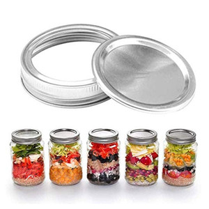 70mm 86mm Mason Jar Lids With Discs Wide Mouth Canning Mug Glass Lid Top Covers Rust Resistant Screw Bands Rings