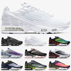 blau tennisschuhe großhandel-air vapormax tn plus Männer Frauen Laufschuhe Tuned Ultra Trainer Triple White Black Sunset Neon Hyper Blue Violet Herren Sport Sneakers Größe