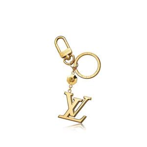 2020Exquisite3 four-leaf flower letter luxury keychain multi pendant bag charm fashion key chain