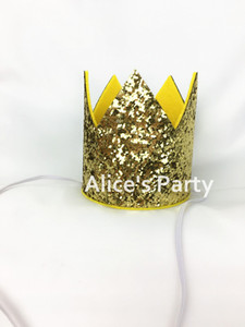 Wholesale kings hats gold resale online - New Wild King Party Glitter Gold Prince Boy st Birthday Party Crown Hats Baby shower Decor Girl First Favors Photo Props