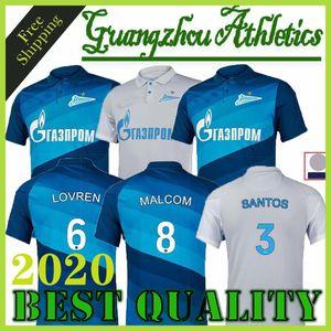 20 21 FC Zenit St. Petersburg soccer jersey home away blue gray MALCOM Lovren 2020 2021 SANTOS BARRIOS Football Shirt maillots de foot thai