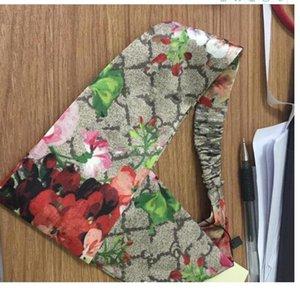 Designer Brand Silk Elastic Women Headbands Fashion Luxury Girls Flower Bird Hair bands Scarf Hair Accessories Gifts brand Headwraps S904