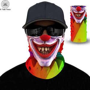 Wholesale men face mask resale online - Novelty D Print Headscarf Funny Colwn Face Bandana Cycling Sports Tubular Mask Wolf Men Scarf Handkerchief Headband Funny scarf