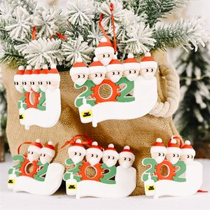 Wholesale personalize christmas ornament for sale - Group buy Quarantine Christmas Birthdays Party Decoration Gift Product Personalized Family Ornament Pandemic Social Distancing Hand Sanitize GGE1813