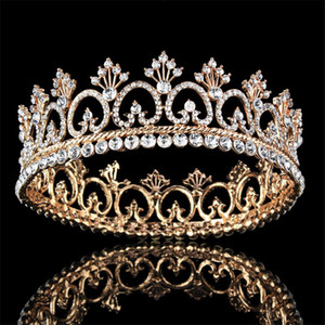 Wholesale kings crowns for sale - Group buy Round Queen King Crown Bridal Wedding Hair Jewelry Prom Tiaras and Crowns Bride Headdress Wedding Hair accessories