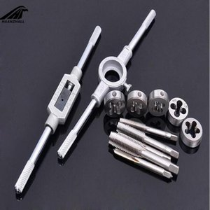 Wholesale threading tap set resale online - 8 set Multifunction NC Screw Tap Die Set External Thread Cutting Tapping Hand Tool Kit with M6 M7 M8 M10 M12 Taps