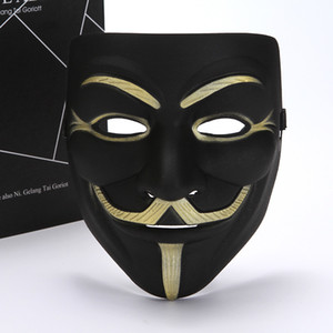Wholesale guy fawkes masks for sale - Group buy mask Vendetta white yellow Mask Anonymous Guy Fawkes Fancy Adult Costume Halloween Masks Masquerade V Masks For Halloween FWB1269
