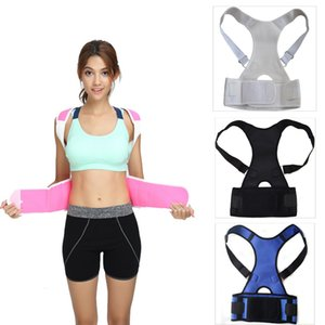 Wholesale back pain support belts resale online - Shoulder Support Belt Posture Corrector Sports Back Brace Lumbar Back Support Belt Pain Reliver Faja Lumbar