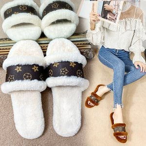 Wholesale n word shoes for sale - Group buy fashionable one word wool slippers fashionable women wool slippers beach slipper ladies woman shoes Hot Sale DHL