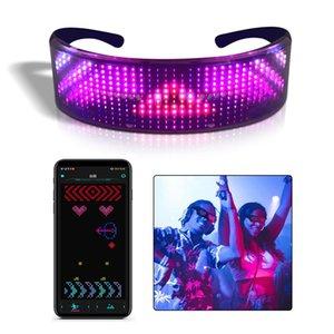 Bluetooth APP Programmable Flash Eyeglasses Frame Colorful Luminous Glasses LED Sunglasses APP Eyeglasses for Party Festival Bar Night Club