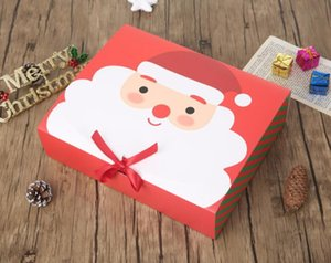 Wholesale indoor activities resale online - Christmas Gift Boxes Xmas Packing Box Santa Claus Paper Gift Boxes Case Design Printed Candy large Box Party Activity Decorations GWC2357