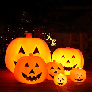 Wholesale pumpkin decorations for sale - Group buy Halloween Pumpkin Lantern Interesting Voice Control Flash Talking Animated Pumpkin Lamps Ghost Festivals Decoration Event Props VT1663